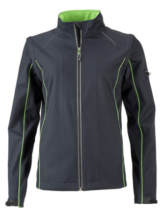 Ladies Zip Off Jacket James & Nicholson - irongrey green
