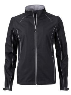 Ladies Zip Off Jacket James & Nicholson - black silver