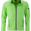 Men's Sports Softshell Jacket James & Nicholson - brightgreen black