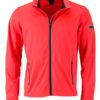 Men's Sports Softshell Jacket James & Nicholson - brightorange black