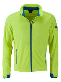 Men's Sports Softshell Jacket James & Nicholson - brightyellow brightblue