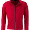 Men's Sports Softshell Jacket James & Nicholson - lightred black