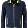 Men's Sports Softshell Jacket James & Nicholson - navy brightyellow