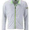 Men's Sports Softshell Jacket James & Nicholson - white brightgreen