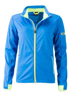 Ladies' Sports Softshell Jacket James & Nicholson - brightblue brightyellow
