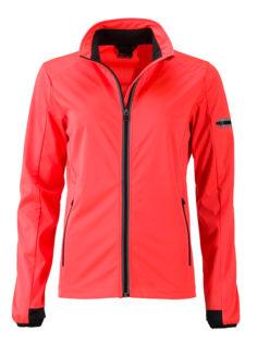 Ladies' Sports Softshell Jacket James & Nicholson - brightorange black