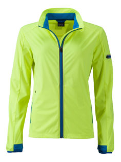Ladies' Sports Softshell Jacket James & Nicholson - brightyellow brightblue