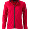 Ladies' Sports Softshell Jacket James & Nicholson - lightred black