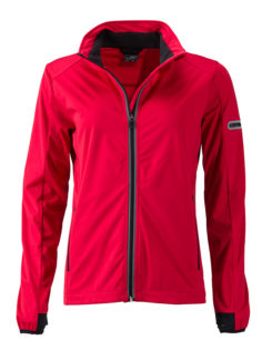 Ladies' Sports Softshell Jacket James & Nicholson - lightred black