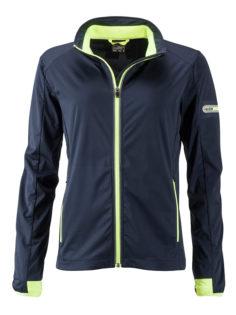 Ladies' Sports Softshell Jacket James & Nicholson - navy brightyellow