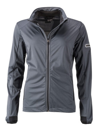 Ladies' Sports Softshell Jacket James & Nicholson - titan black