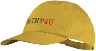 Basic Cotton Cap Bullet - gelb