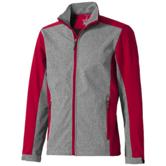 Vesper Softshell Herrenjacke Elevate - red heather