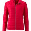 Ladies Padded Jacket James & Nicholson - red
