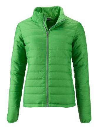Ladies Padded Jacket James & Nicholson - green