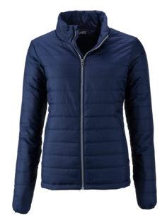Ladies Padded Jacket James & Nicholson - navy