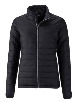 Ladies Padded Jacket James & Nicholson - black