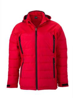 Mens Outdoor Hybrid Jacket James & Nicholson - red