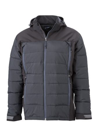 Mens Outdoor Hybrid Jacket James & Nicholson - black