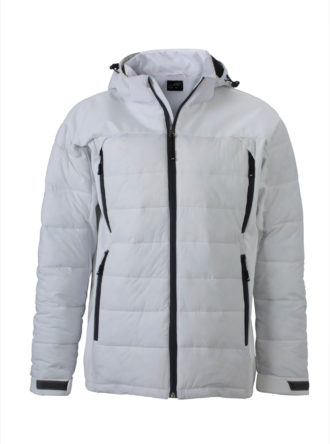 Mens Outdoor Hybrid Jacket James & Nicholson - white