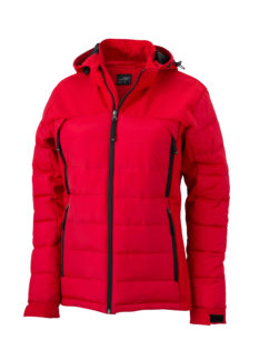 Ladies Outdoor Hybrid Jacket James & Nicholson - red