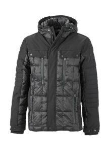 Mens Wintersport Jacket James & Nicholson - black black