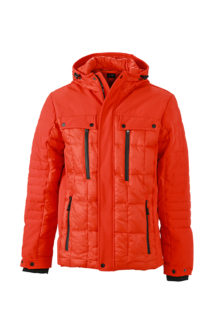 Mens Wintersport Jacket James & Nicholson - grenadine black