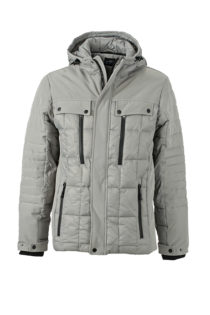 Mens Wintersport Jacket James & Nicholson - silver black