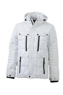 Mens Wintersport Jacket James & Nicholson - white black