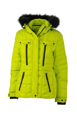 Ladies Wintersport Jacket James & Nicholson - acid yellow black
