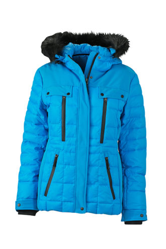 Ladies Wintersport Jacket James & Nicholson - aqua black
