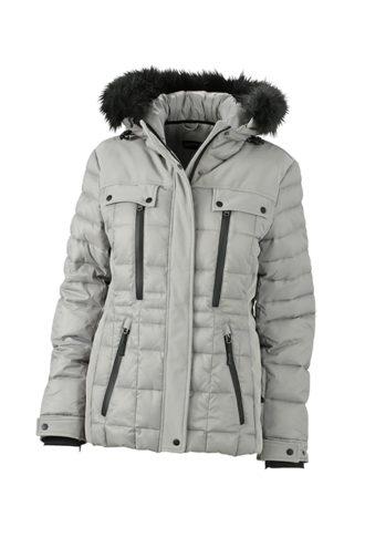Ladies Wintersport Jacket James & Nicholson - silver black