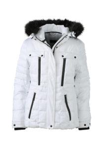 Ladies Wintersport Jacket James & Nicholson - white black