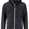Mens Rain Jacket James & Nicholson - black silver