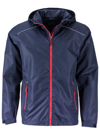 Mens Rain Jacket James & Nicholson - navy red