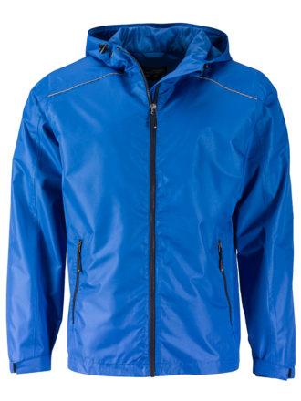 Mens Rain Jacket James & Nicholson - royal navy