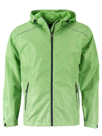 Mens Rain Jacket James & Nicholson - spring green navy