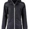 Ladies Rain Jacket James & Nicholson - black silver