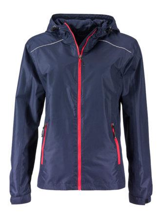 Ladies Rain Jacket James & Nicholson - navy red