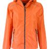 Ladies Rain Jacket James & Nicholson - orange carbon
