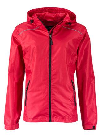 Ladies Rain Jacket James & Nicholson - red black