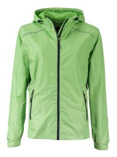 Ladies Rain Jacket James & Nicholson - spring green navy
