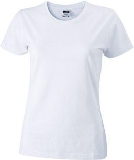 Werbeartikel Damen T-Shirt Ladies Slim Fit - white