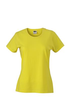 Werbeartikel Damen T-Shirt Ladies Slim Fit - yellow