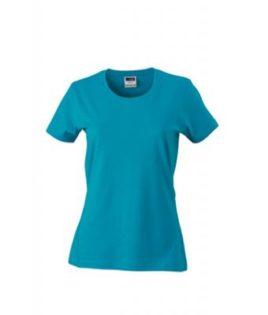 Werbeartikel Damen T-Shirt Ladies Slim Fit - caribbeanblue