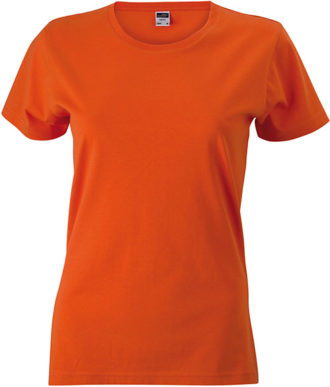 Werbeartikel Damen T-Shirt Ladies Slim Fitngarm - dark orange