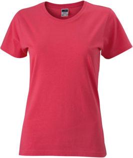 Werbeartikel Damen T-Shirt Ladies Slim Fit - light berry