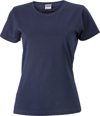 Werbeartikel Damen T-Shirt Ladies Slim Fit - navy