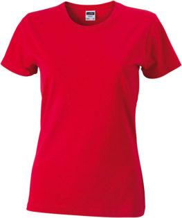 Werbeartikel Damen T-Shirt Ladies Slim Fit - red