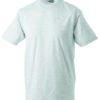 T-Shirt Werbung auf Round-T Heavy - ash